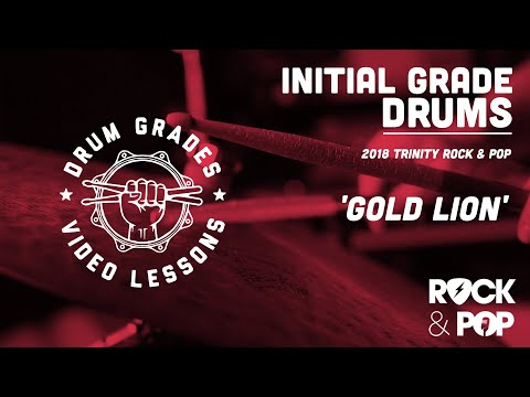 ★ Gold Lion ★ 2018 Trinity Rock & Pop (Drums) Initial | PREVIEW Full Drum Lesson