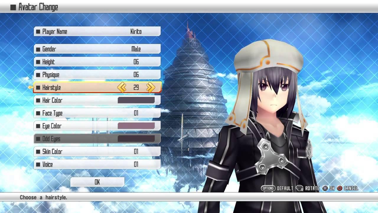Sword Art Online Re Hollow Fragment Character Creator