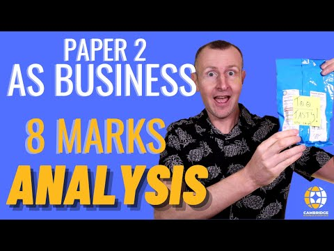 How to score full marks AS Business 8 marks Analysis CAIE