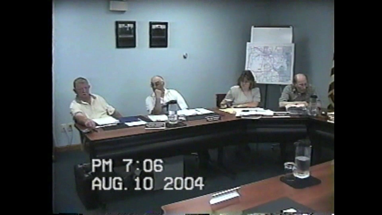 Champlain Town Board Meeting  8-10-04