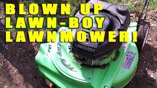 Blown Up Lawn-Boy Lawnmower