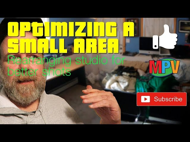 OPTIMIZING A SMALL AREA || Rearranging studio for better shots   (1.19.19) #1228