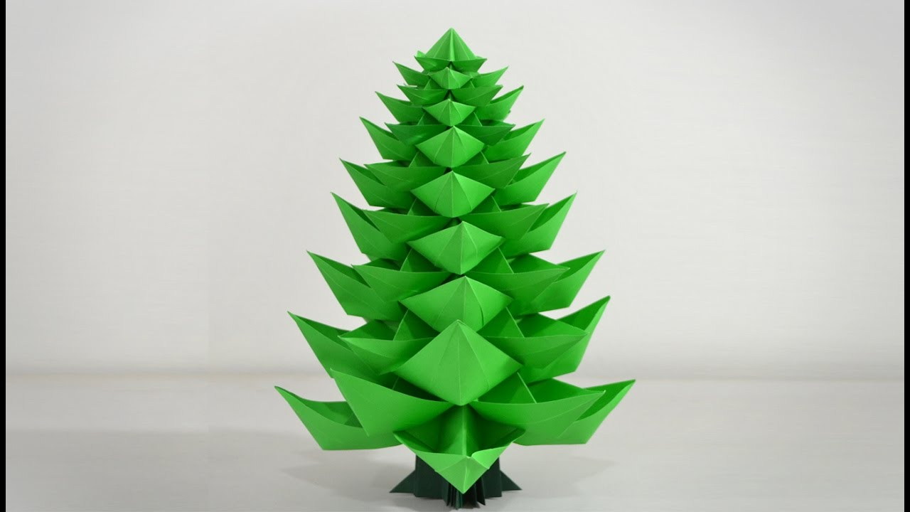 origami christmas tree 20 instructions in english br