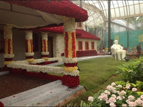Bangalore Lal Bagh Independence Day Flower Show,  2017
