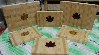 "Making A ""maple Leaf"" Inlaid End Grain Cutting Board"