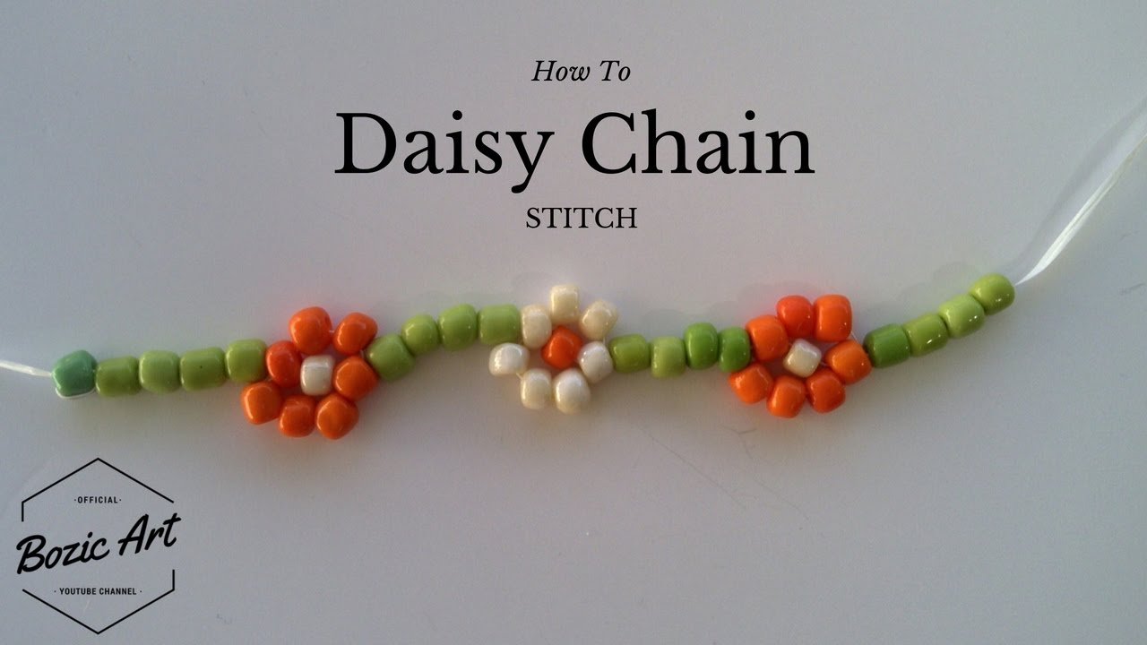 How to Chain Stitch a Daisy