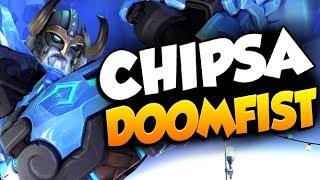 CHIPSA PRO DPS DOOMFIST GAMEPLAY! 32 ELIMS! [ OVERWATCH SEASON 19 TOP 500 ]