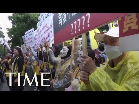 Thousands Join Tax Protest In Taiwan, With A Nod To French 'Yellow Vests' | TIME