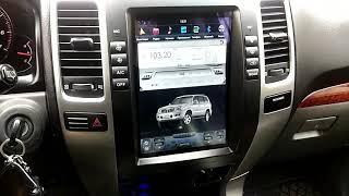 Тесла Прадо 120 Делаем свой Прадик современнее)) Штатная магнитола в стиле Tesla для Toyota Prado