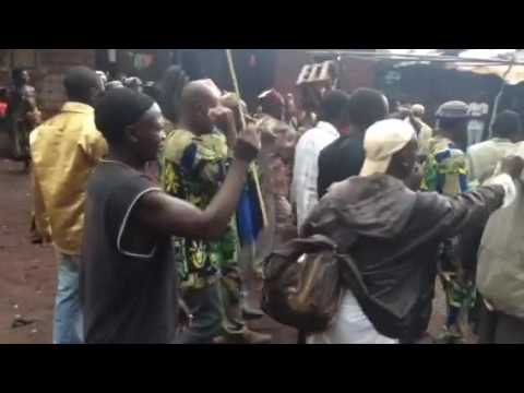 Cameroon funeral song with men and women