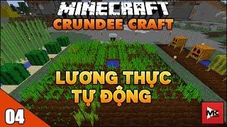 Vườn Lương Thực Tự Động, Năng Lượng Mặt Trời - Minecraft Crundee Craft [4] | MK Gaming