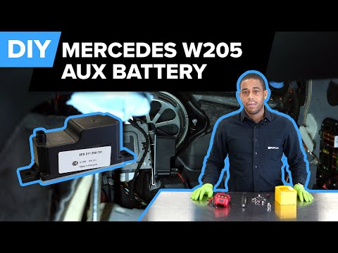 Mercedes-Benz W205 Auxiliary Battery Replacement DIY (Mercedes-Benz C300, S63 AMG, C63 AMG, & More)