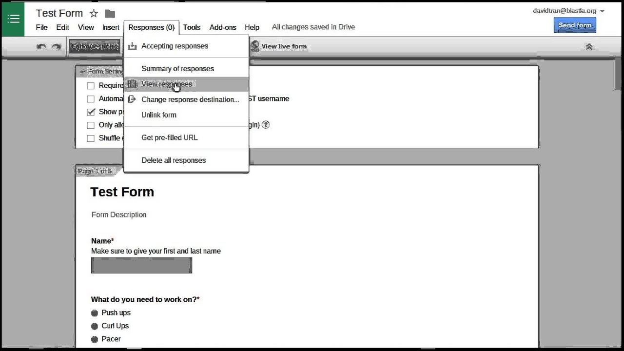 Viewing and Managing Form Response (Google Forms) - YouTube