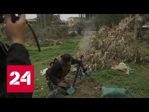 Мирные жители покидают историческую часть Мосула