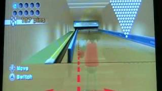 Wii Bowling 91-Pin Challenge Bomb Strike Trick