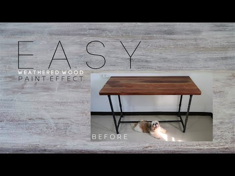 DIY Weathered Wood How To Whitewash