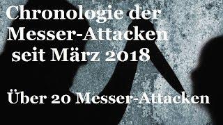 Über 20 Messer-Attacken seit März 2018