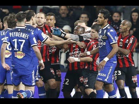 Les bagarres, discussions, carton rouges de SC Bastia ! (saison 2015-2016) | 720p HD