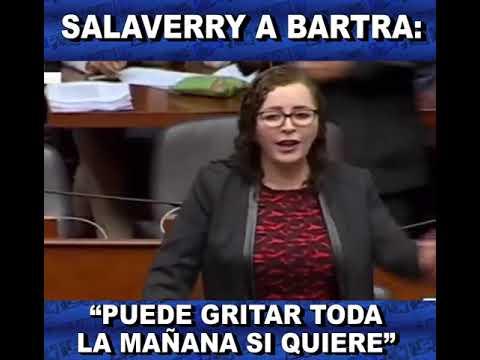 Acalorada discusión entre los fujimoristas Daniel Salaverry y Rosa Bartra