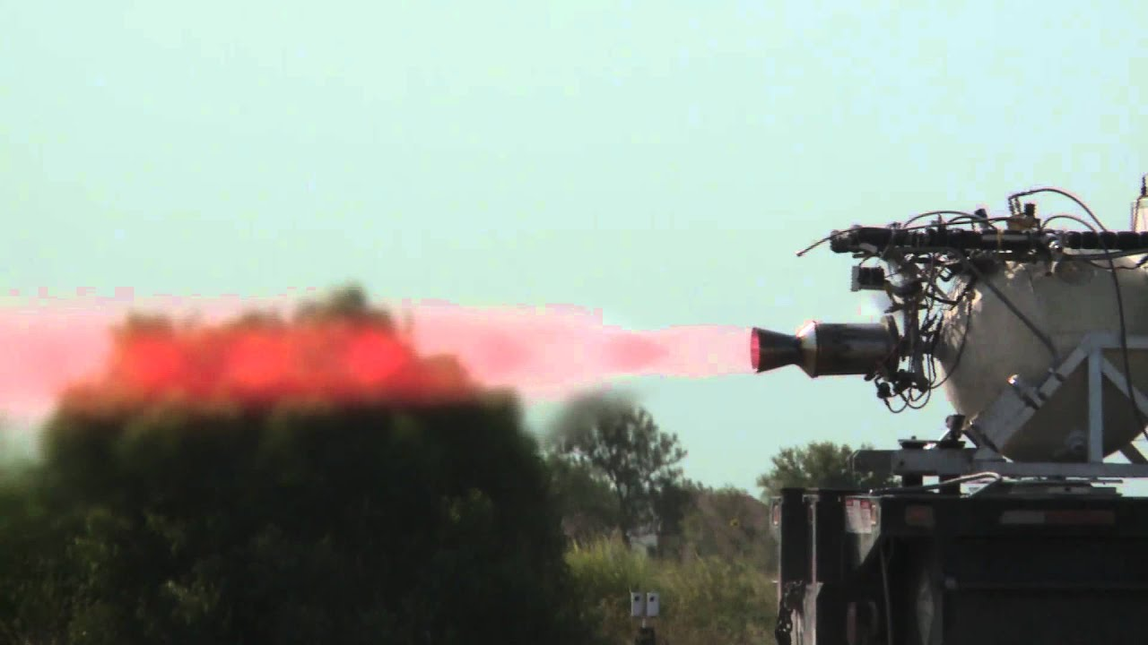 Armadillo Aerospace liquid fuel rocket engine test firing