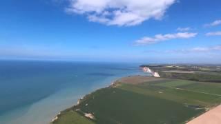 Saint-Pierre-en-Port, GR21 survolé par un drone