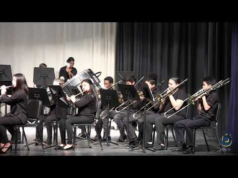 East Wake Middle School Advanced Band performs Triton Fanfare on 3/19/2019
