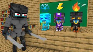 Monster School : Wither Skeleton Super Hero Babies - minecraft animation