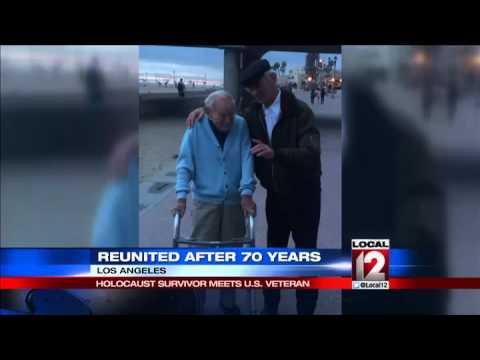 Holocaust survivor meets US Veteran after 70 years
