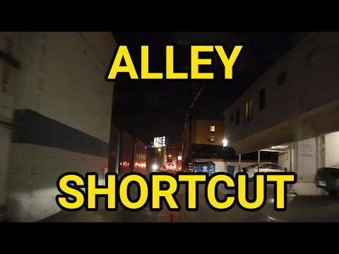 Alley Shortcut Home in Los Angeles | Dash Cam California Night Drive