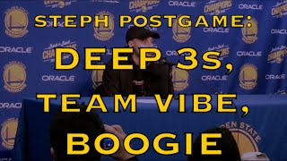 Entire STEPH CURRY postgame: deep 3s, stopped fouling, Kerr talking to team about more 3s in the NBA