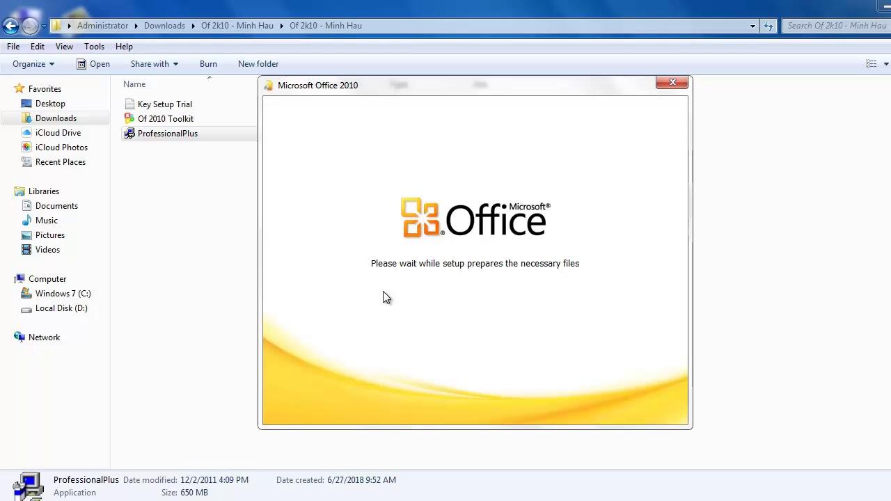 Hướng dẫn cách cài đặt microsoft office 2010 đơn giản