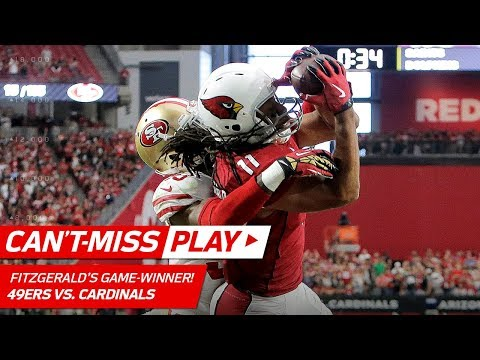 Larry Fitzgerald's Leaping TD Catch for the WIN! | Can't-Miss Play | NFL Wk 4 Highlights