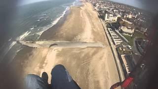 """Atterrissage en parapente à Villers sur mer """"centre"""""""