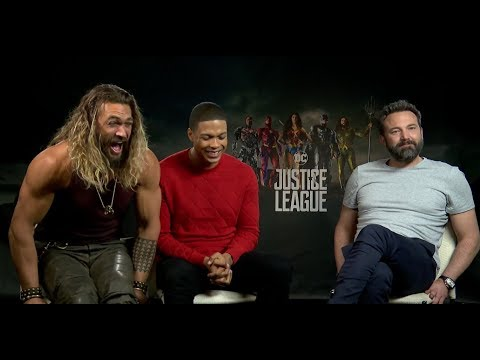 Ben Affleck, Jason Momoa, & Ray Fisher Interview for 'Justice League'