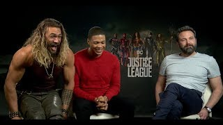 "Ben Affleck, Jason Momoa, & Ray Fisher Interview for ""Justice League"""