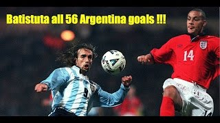 Batistuta all 56 Argentina goals!!!
