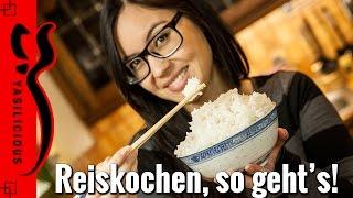 Asiatisch REISKOCHEN  so bekommt man den Reis wie beim Asiaten hin ;)