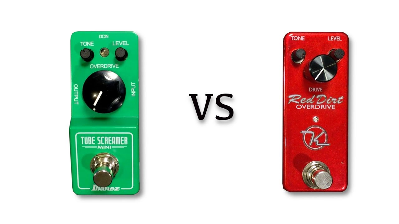 tube screamer mini vs keeley red dirt overdrive youtube