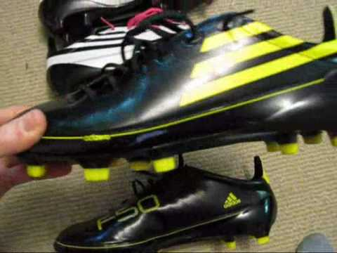adidas f50 black and yellow leather