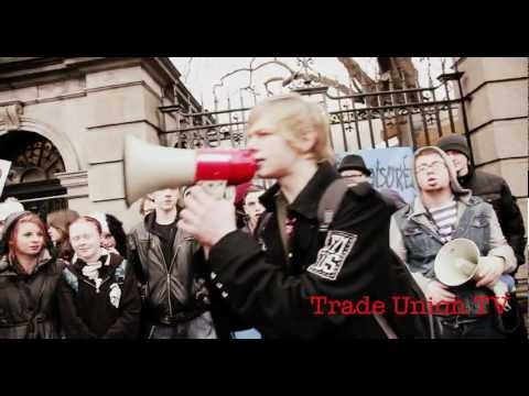 Stop ACTA and SOPA Ireland protest- Dublin 4th February 2012