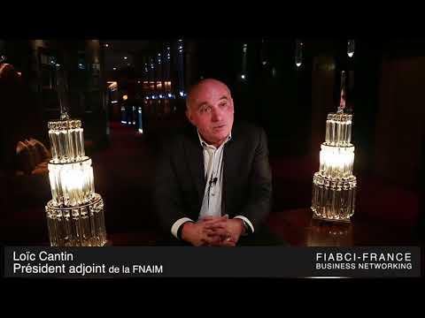 Loïc Cantin, au Business Networking de la FIABCI 01.2018.