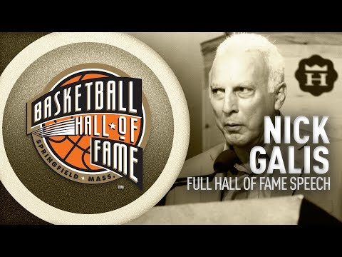 Nick Galis' Hall of Fame Enshrinement Speech