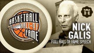 Nick Galis' Hall of Fame Enshrinement Speech