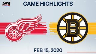 NHL Highlights | Red Wings vs. Bruins - Feb. 15, 2020