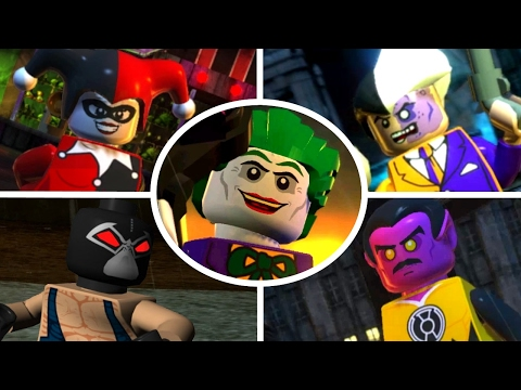 LEGO Batman 2 DC Super Heroes - All 22 Villain Boss Fights (UNLOCKING ALL VILLAINS)