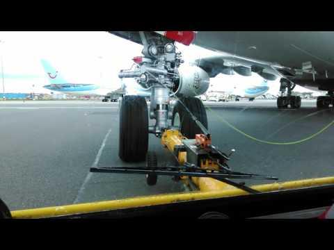 Pushing A380 BHX