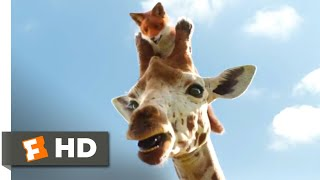 Dolittle - death-defying giraffe ride: betsy the (selena gomez) helps tommy (harry collett) reach dr. dolittle's (robert downey jr.) ship. buy mo...