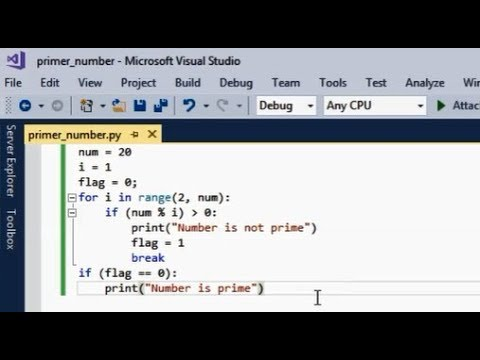 python code for checking prime numbers