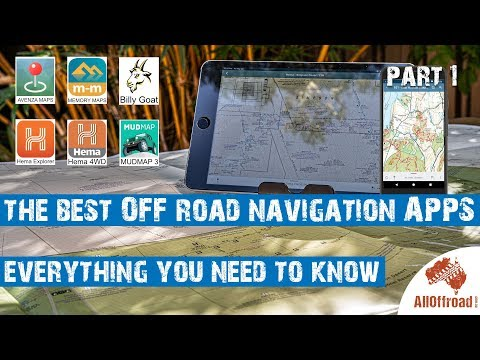The Best GPS Navigation Apps For OFF-Road And 4wd Use - Part 1 Hema Vs Mud Map 3 [2019]