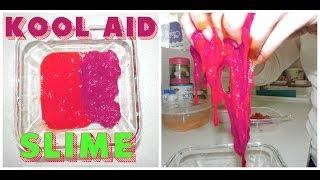 How to make Kool Aid Slime ! Non-Toxic Fun SLiME Thumbnail